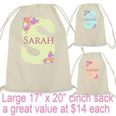 Bridesmaid Bags Personalized Bridesmaid Gift Large Cinch Sack, Laundry Bags, Bridesmaid Bags, Personalized Bridesmaid Gifts, Grad Gifts, Trending Outfits, Unique Jewelry, Handmade Gifts, Etsy