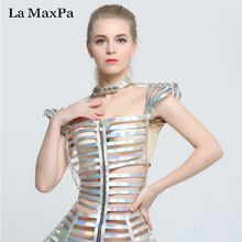 La MaxPa Fashion female singer costume stage show silver costume sexy slim clothing bar ds dj jazz dance outfit performance wear