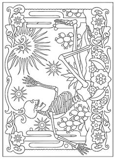 Day Of The Dead Coloring Pages Dogs