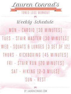 Lauren Conrad's weekly workout