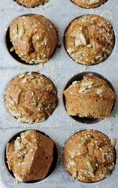 Healthy Pumpkin Banana Muffins | Best muffins EVER!
