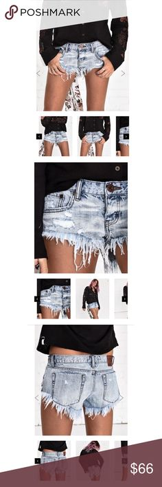 "NWT Oneteaspoon lucky fox bonitas NWT oneteaspoon lucky fox bonitas. Size 23. Distressed light wash jean shorts. Runs big. Would fit size 24. Too big on me (I'm usually a 23 (105/5'2"")). One Teaspoon Shorts Jean Shorts"