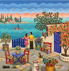 A View From the Terrace by Laura Vidra