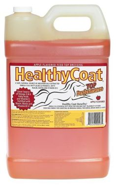 Healthy Coat - 2.5 Gallon (80-320 days) by Healthy Coat. $48.95. Healthy Coat provides horses with a rich source of essential fatty acids and vitamins to improve skin and coat conditions, performance and overall health. The all-natural, unrefined feed supplement includes Omega 3 and 6 fatty acids, Vitamin E, Vitamin B12, niacin and biotin. Healthy Coat is an easily digestible source of nutrients for energy, performance, stamina and strength. Ideal for thin hors...