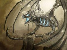 Undead dragon by Falcon306.deviantart.com on @deviantART