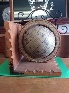 Vintage Globe Compos Bookend