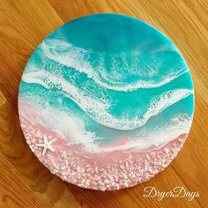 Resin Artwork // Katharine D ( Resin Artwork, Luminous Colours, Island, Photo And Video, Abstract Paintings, Cover, Beach, Instagram, Videos
