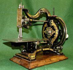 Gold & Black Antique Sewing Machine