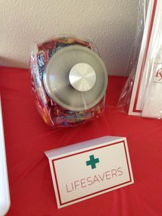 """""""Life Savers"""" for a Nursing Graduation Party! This is a cute idea!"""