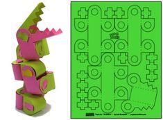Poplocks Snakebot Papercraft Project For Kids - by Paper Posables