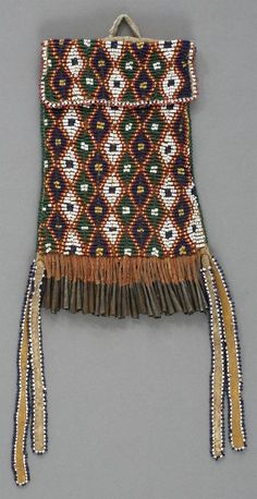 apache beaded hide | an apache beaded hide strike a light bag c 1885 american lot 55150 ...