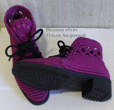 Crochet Sandals, Crochet Boots, Knit Crochet, Make Your Own Shoes, Knit Shoes, Baby Socks, Crochet Projects, Fashion Shoes, Adidas Sneakers