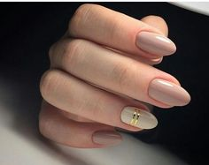Touch Of Gold - These Neutral Nails Are The Epitome Of Chic And Stylish - Photos