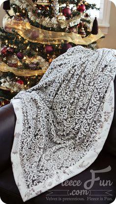 New Video Tutorial: Self Binding Blanket ♥ Fleece Fun