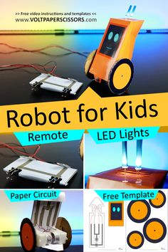 Paper Robot, Cardboard Robot, Simple Electronics, Electronics Projects, Stem Projects For Kids, Science Projects, Stem Activities, Activities For Kids, Steam Education