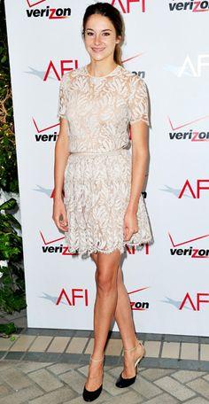 Shailene Woodley in a Honor Spring '12 Dress