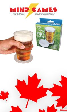 Enjoy beer in style anywhere with the Pop Up Pint Glass! Perfect for  festivals e3d841f12a24