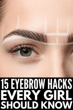Brows on Fleek: 14 Eyebrow Hacks Every Girl Should Know - - Want gorgeous, thick, and natural eyebrows your friends will envy? We're sharing 14 eyebrow hacks every girl should know, and you don't want to miss out! Best Eyebrow Pencils, Eyebrow Makeup Tips, Eye Makeup, Makeup Hacks, Makeup For Eyebrows, Eyebrows On Fleek, Makeup Basics, Eyebrow Tinting, Eyeliner Hacks