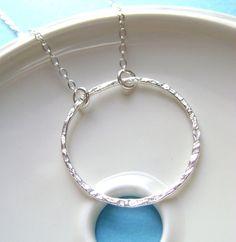 Sterling Silver eternity Necklace big by RachellesJewelryBox, $29.00