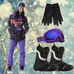 """Volcom Ayers Snowboard Jacket, Volcom Snowboard Pants, Burton Mint Black Snowboard Boots"" by zumiez on Polyvore"