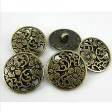 """30 NUOVO Bronze di Tono Del Fiore Bottoni Metallici Decorativi 3/4 """"20.0mmAE03163(China (Mainland))"""