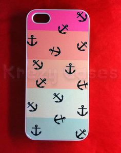 Iphone 5 Case, New iPhone 5 case Colorful Strip Nevy Anchor iPhone 5 Cases, iphone 5 Cover , Case for iPhone 5