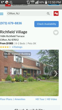 1br $1275-$1375/mo bloomfield nj dishwasher/on site laundry/rent ...