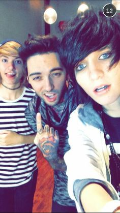 Kyle David Hall, Romeo Lacoste, and Johnnie Guilbert
