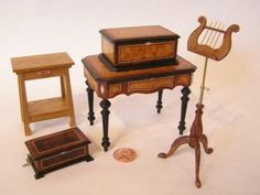 Bill Studebaker : Studebaker Miniatures: Vintage & Artisan Dollhouse Miniatures, Sonia Messer, Tootsietoy, Strombecker, working miniature music boxes & miniature quilts