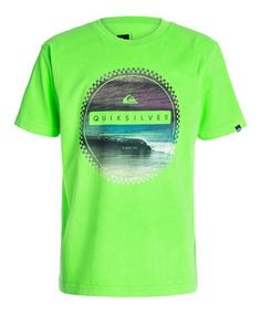 Another great find on #zulily! Quiksilver Neon Green Wave Duplex Tee - Toddler & Boys by Quiksilver #zulilyfinds