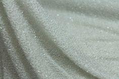 Beaded Silk Chiffon - Ivory with Ivory Beads