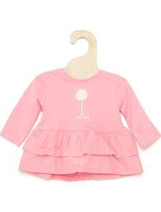 Camiseta con bajo con volante                                                                                                 rosa Bebé niña