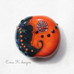 Sunset Series tabular focal bead by Ema K sra by EmaKDesigns, $15.00