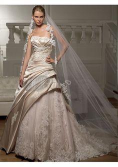 Di lusso economici bei vestiti da sposa senza spalline
