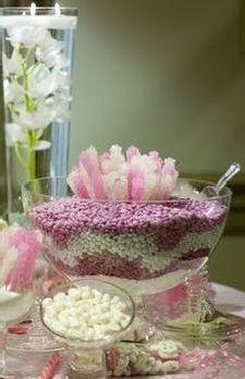 Punch Bowl Filled With M Ms As Part Of Wedding Candy Bar See More Mandms
