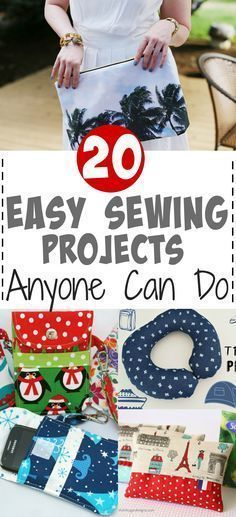 20 Easy and Cheap Sewing Projects for Everyone.