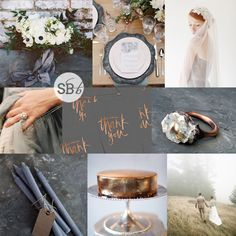 Pantone Stormy Weather Wedding Inspiration   SouthBound Bride