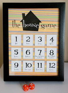 I love this!!!! The House Game - making cleaning the house fun for the kids.