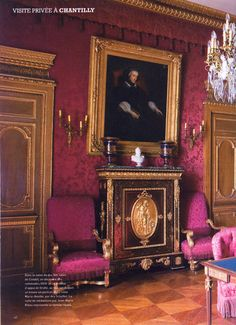 Chateau Chantilly in classic Regency style Old World Style, Old World Charm, Classic Interior, French Interior, Palace Interior, Interior And Exterior, Ville France, Grand Homes, French Chateau