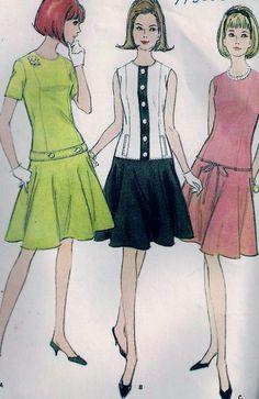 Vintage 60s McCall's 8135 Dress Long Waist by vintagepatternstore, $7.90