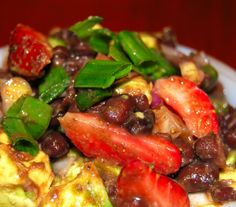 Holy Cow!: Strawberry-Avocado-Black-Bean Salad, and Hunger