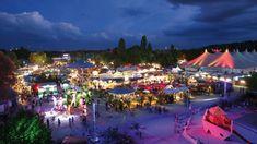 Tollwood, summer outdoor concerts Veranstaltungen, Theater, Konzerte und dazu der Markt der Ideen mit Kunsthandwerk und Bio-Gastronomie. Das ist das Tollwood Festival in München.