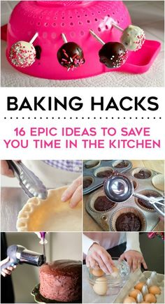 16 Epic Baking Hacks I love the hack of how to crimp crust edges! Going to try this ASAP! The post 16 Epic Baking Hacks appeared first on Crafts. Baking Secrets, Baking Tips, Baking Hacks, Bread Baking, Baking Basics, Baking Soda, Weight Watcher Desserts, Cake Decorating Tips, No Bake Cake