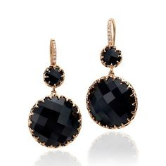 Black Onyx Earrings by Ivanka Trump available at Birks