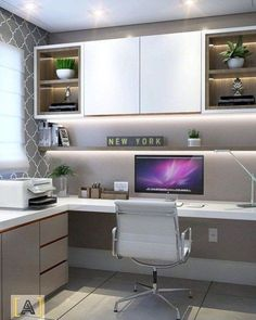 For Two Home Office Design Ideas. Therefore, the need for house offices.Whether you are intending on adding a home office or refurbishing an old room right into one, here are some brilliant home office design ideas to help you start. Home Office Layouts, Home Office Setup, Home Office Organization, Home Office Space, Office Ideas, Small Home Offices, Man Office, White Office, Office Workspace