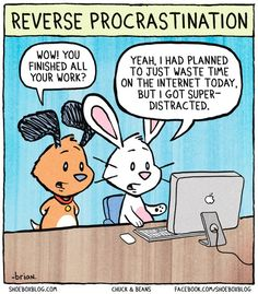 Reverse Procrastination - Chuck and Beans~I wish I had this problem