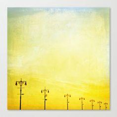 Coney Island Boardwalk Stretched Canvas by Mina Teslaru - $85.00