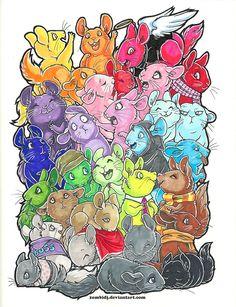 30 Chinchillas Drawing by ZombiDJ