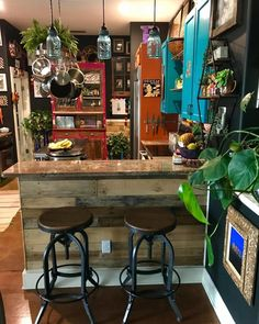 Since my summary disappeared and I'm too lazy to write another. This is the be… Since my summary disappeared and I'm too lazy to write another. Think I'm going to paint a Native American thunderbird… Bohemian Kitchen, Industrial Chic Kitchen, Hippie Kitchen, Industrial Table, Industrial Furniture, Vintage Industrial, Home Decor Inspiration, My Dream Home, Home Kitchens