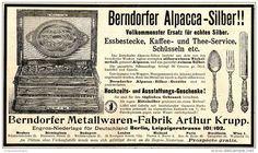 Original-Werbung/ Anzeige 1897 - BERNDORFER ALPACCA-SILBER / ARTHUR KRUPP BERLIN - ca. 180 x 110 mm